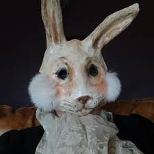 paper mache bunnies shop paper mache mask on wanelo
