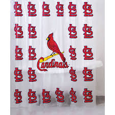 Curtains St Louis Shop View Vinyl St Louis Cardinals Patterned Shower Curtain
