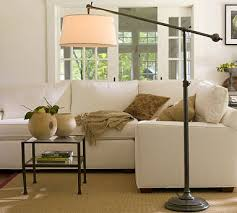 Pottery Barn Floor Lamps Cfl Chelsea Sectional Floor Task Lamp With Burlap Shade Bronze