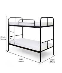 Home TwinOverFull Metal Bunk Bed With Set Of  Mattresses Buy - Height of bunk beds