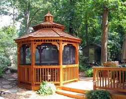 red cedar double roof octagon gazebos with metal roof gazebos by