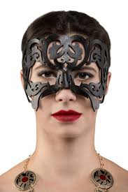 leather masquerade masks filigree leather masquerade mask dyed paragon of design by