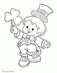 leprechaun coloring page avedasenses com