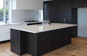 black kitchen cabinets nz black woodgrain kitchen auckland new zealand