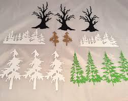 pine tree die cut etsy