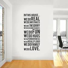 home decor wall quote wall sticker 60 150 big house rule removable wall decal