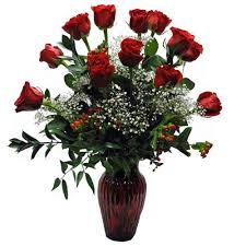 Long Stem Roses Red Roses Arranged Canton Delivery Cathy Cowgill Flowers