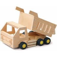 wooden truck red tool box diy wood dump truck building kit walmart com