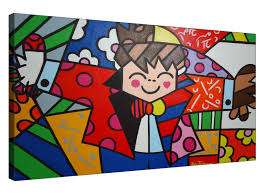 romero britto the hug romero britto canvas brazilian art world art