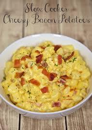 slow cooker cheesy bacon potatoes plain chicken