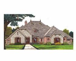 european house plans one story plan 48098fm angled nook house plan with guest room sitting