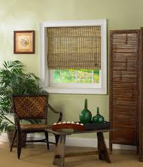 window treatment with bamboo blinds design ideas home design