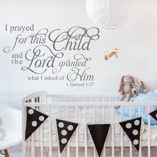 i samuel 1 27 i prayed for this child wall decal a great i samuel 1 27 i prayed for this child wall decal