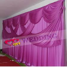 wedding backdrop curtains for sale aliexpress buy 2017 hot sale violet 3 6 fold wedding