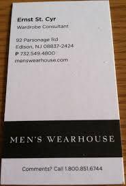 business card redesign men u0027s wearhouse
