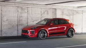 Porsche Macan Red - porsche macan gains prior design wide body kit
