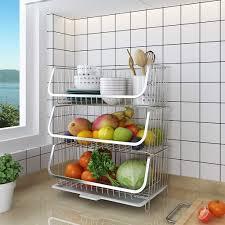 vegetable storage kitchen cabinets fruit baskets storage stand for fruit