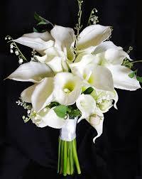 touch silk calla wedding bouquet