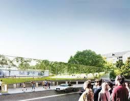 designboom green school big rotates each level of virginia school to form cascading rooftop