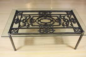 Glass And Metal Coffee Tables Iron And Glass Coffee Table All Furniture Wrought Iron