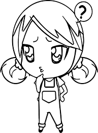 anime chibi coloring page wecoloringpage