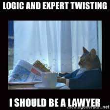 Lawyer Cat Meme - logic and expert twisting i should be a lawyer i should buy a boat