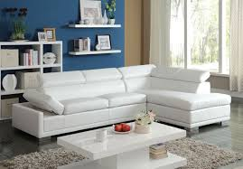 Modern White Bonded Leather Sectional Sofa Inspirations White Leather Sectional Sofa With Chaise With Modern