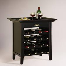 world market bar cabinet crafted of mixed hardwood with a weathered black finish overlaid