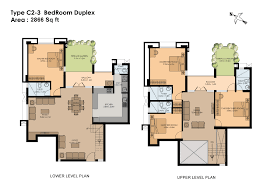 duplex floor plans 3 bedroom finest duplex kerala house plan