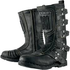 black leather motorcycle boots mens icon one thousand 1000 elsinore johnny black leather