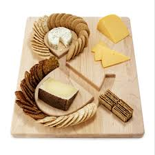 cutting board plates cheese crackers serving board cheese and crackers maple wood