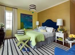 Bedroom Blue And Green Cobalt Blue Velvet Arch Headboard With Gold Grasscloth