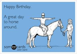 Horse Birthday Meme - happy birthday a great day to horse around birthday ecard