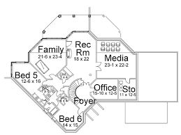 floor plans with basement colonial house plan with 5 bedrooms and 3 5 baths plan 6155