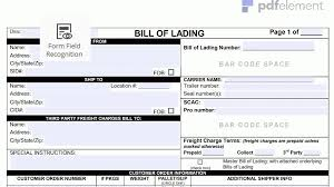 bill of lading form free page 1 gyogybolt sample template