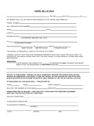 Blank Bill Of Sale Form For Used Car by Bill Of Sale Template Florida Thebridgesummit Co