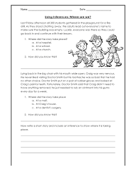worksheets on inferences worksheets