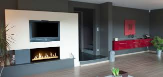 gas fireplace contemporary closed hearth built in cosmos
