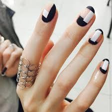 geometric nails nail unistella nailart minimal negative space