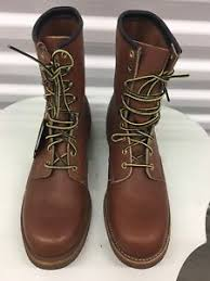 s boots usa chippewa original brown leather ankle s boots size 10d usa