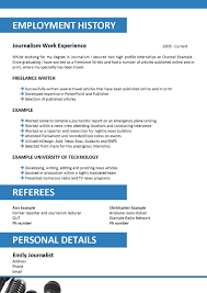 sample journalist resume sample resume journalismpdf sagu