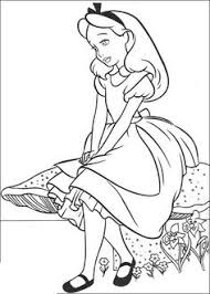 alice wonderland characters coloring pages alice