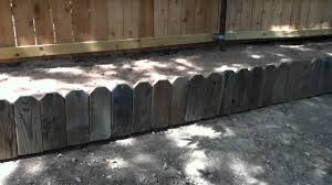 great flower bed idea for old picket fence youtube