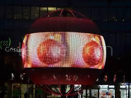 led spheres 6 meters led displays ledwei transparent and