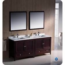 Mahogany Bathroom Vanity by Caroline 72x22 Double Sink Bathroom Vanity In Espresso On Sale