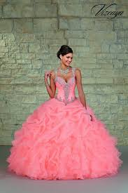 coral quince dress mori vizcaya 89023 coral quinceanera dress ruffled organza