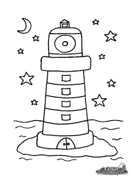 chuggington coloring book lighthouse coloring free coloring page for kids