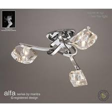 Chrome Ceiling Lights Uk Mantra Alfa 3 Light Halogen Ceiling Fitting In Polished Chrome