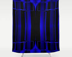 black shower curtain etsy