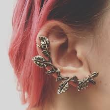 cool ear rings jewels earrings earrings cool flowers leaves dope whole ear